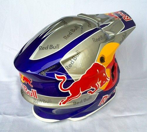 Shoei Red Bull Star Art Design Red Bull Helmet
