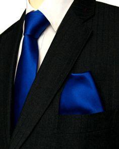 black suit light blue tie - photo #39