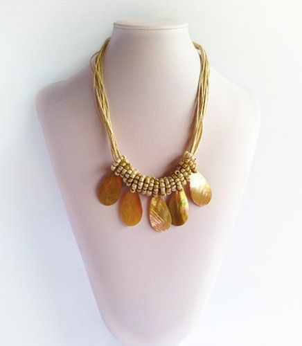 Ada - Tear drop shell | Indigo Heart - Fair Trade Fashion  A$29.95