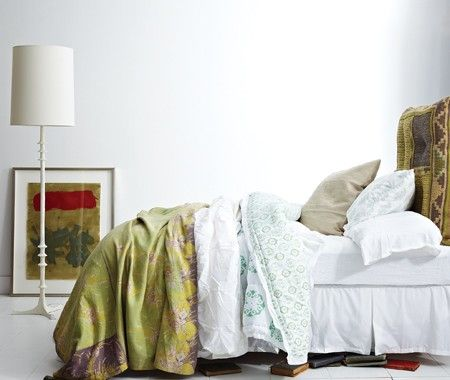 Green & White Bedroom | photo Angus Fergusson | stylist Stacey Smithers | House & Home