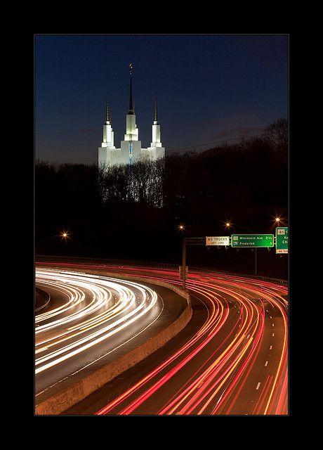 Washington DC LDS Temple and I-495 by Artem Goncharuk, via Flickr