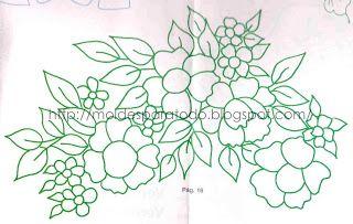 patrones de flores para bordados mexicanos - Buscar con Google