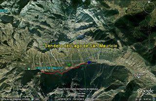 Senderos Almariya: 3. Sendero Lago de San Mauricio – P. Nac. de Aguas Tortas - Lleida