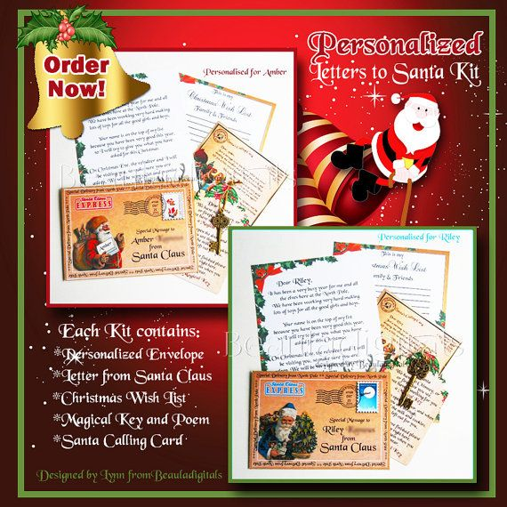 Personalized and Printed Letter Kit from Santa by Beauladigitals