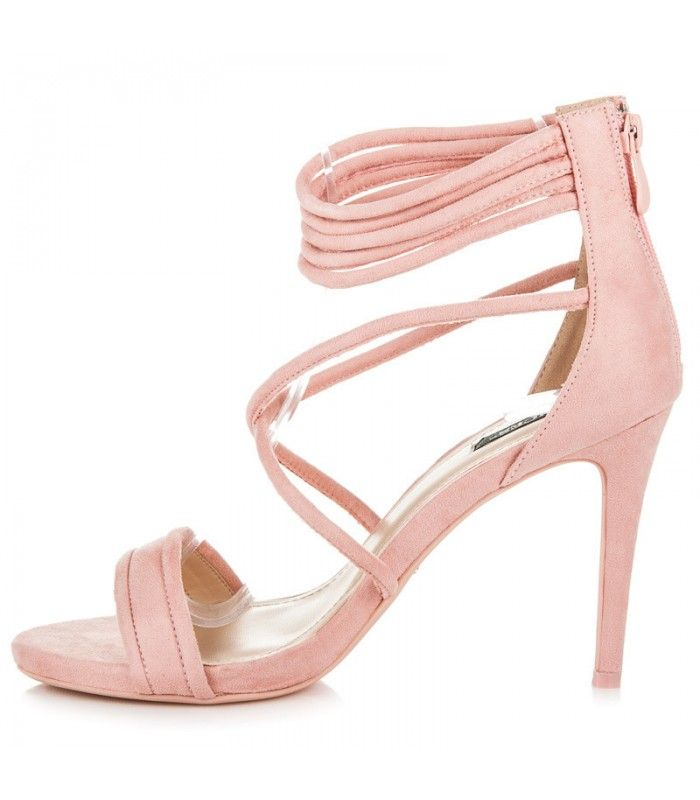 Ružové sandále na podpätku 5070-20P