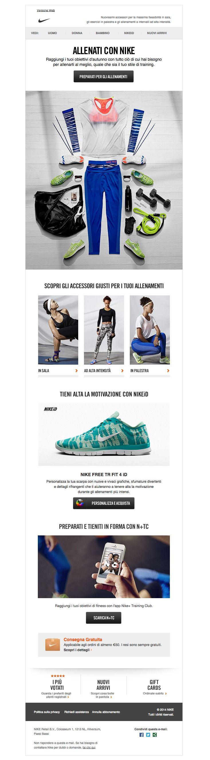 #newsletter Nike 10.2014 Raggiungi più in fretta i tuoi obiettivi di fitness