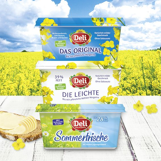 Deli Reform Margarinen. Packaging Design von adworx aus Bielefeld.