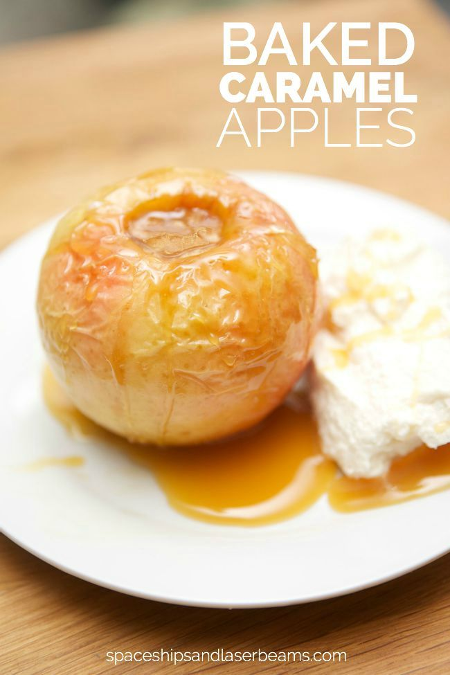Baked Caramel Apple Recipe! Perfect fall dessert recipe!: