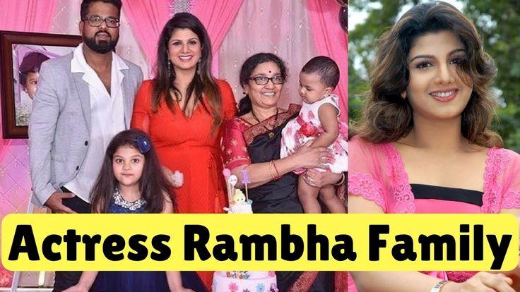 Actress Rambha with Family Members