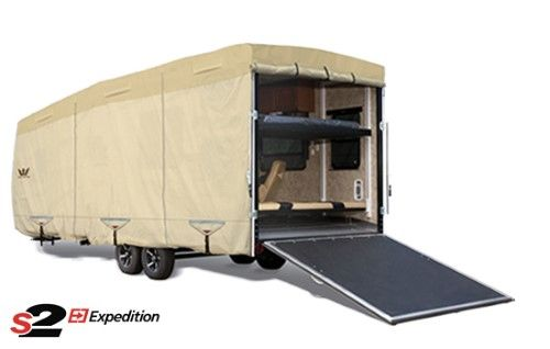 Eevelle S2 Expedition Toy Hauler Trailer Cover, Brown