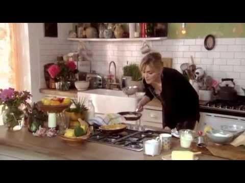 SoPHIE DAHL Arnold Bennett omelette & Mozzarella bruschetta with shaved fennel and courgette