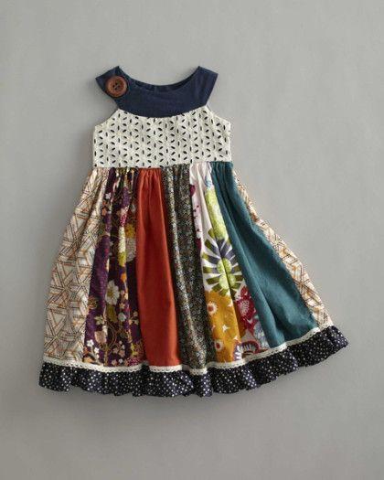 girls field of flowers dress