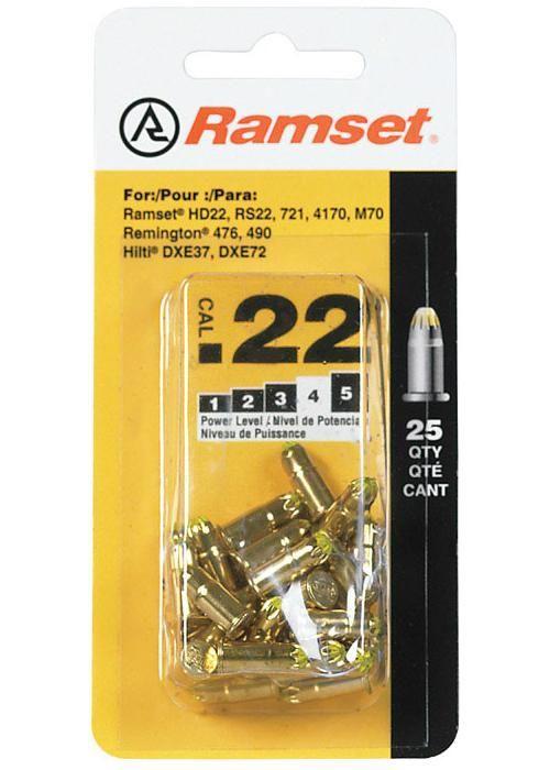 Ramset 50077 Power Load Heavy Duty, .22 Caliber, Yellow