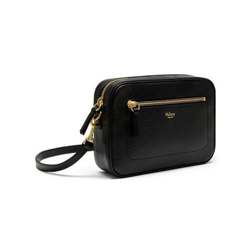 Camera Bag in Black Printed Goat | Family | Mulberry