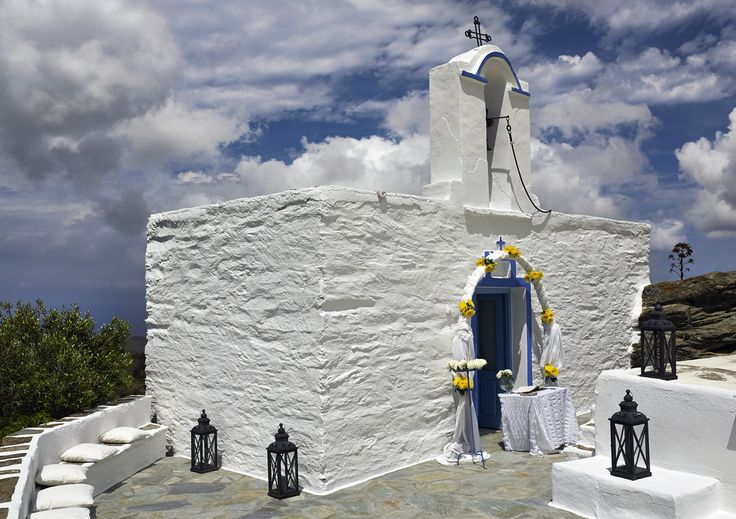Nothing beats a chapel towering above the Mediterranean.