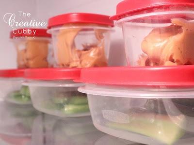 Prepare Celery Snacks for the week in Under 10 minutes.