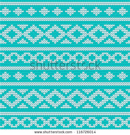 stock vector : Unique knitted pattern with geometric ornament