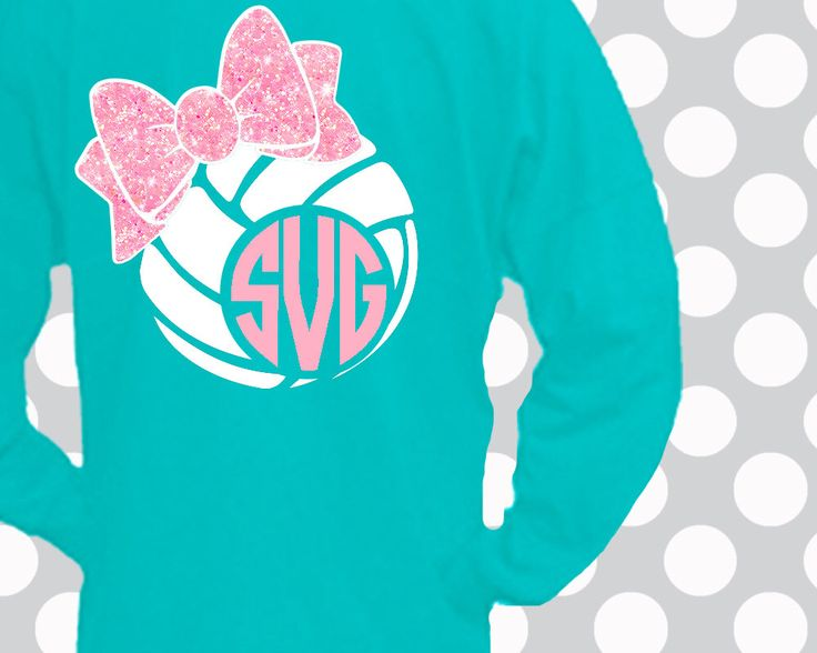 Volleyball SVG, Volleyball, bow, decal cut file,Volleyball shirt,Volleyball Monogram,dxf, Volleyball Download, Volleyball Cricut,Silhouette by ShortsandLemons on Etsy https://www.etsy.com/listing/491225746/volleyball-svg-volleyball-bow-decal-cut