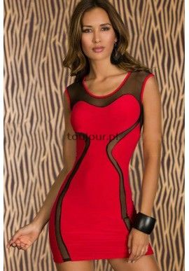 Czerwona klubowa mini sukienka MESH  Wyjątkowa sukienka na specjalne okazje dla eleganckich, wymagających kobiet.