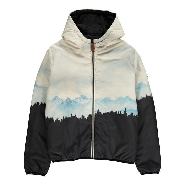Finger in the nose Buckley Premium Landscape Down Jacket Light blue - Teen Fashion - Smallable