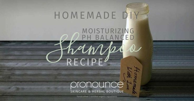"""Many """"no poo"""" and DIY shampoo methods disrupt our hair's PH causing itchiness. This moisurizing DIY PH balanced shampoo should take care of that problem!"""