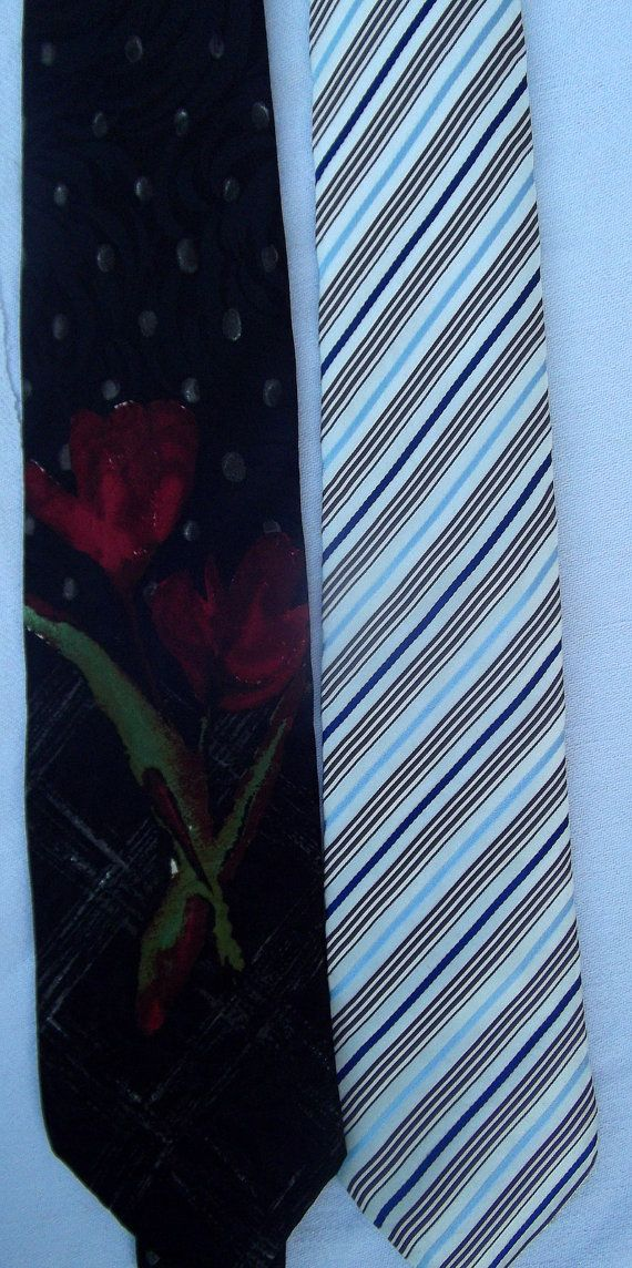 Lot of 2 Hogo Boss vintage ties silk by CHEZELVIRE on Etsy, $20.00