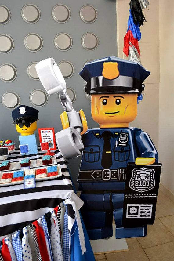 LEGO Police Stand Up Prop PRINTABLE