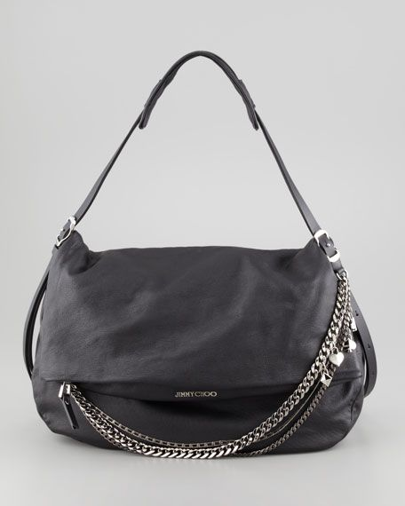 Jimmy Choo - Biker Large Hobo Bag, Black