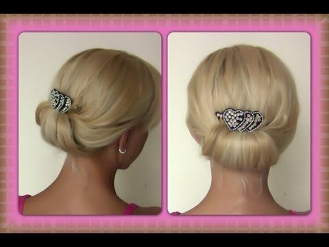 Quick and Simple Evening Updo | Easy Evening Updo | Special Occasion Hairstyle - YouTube