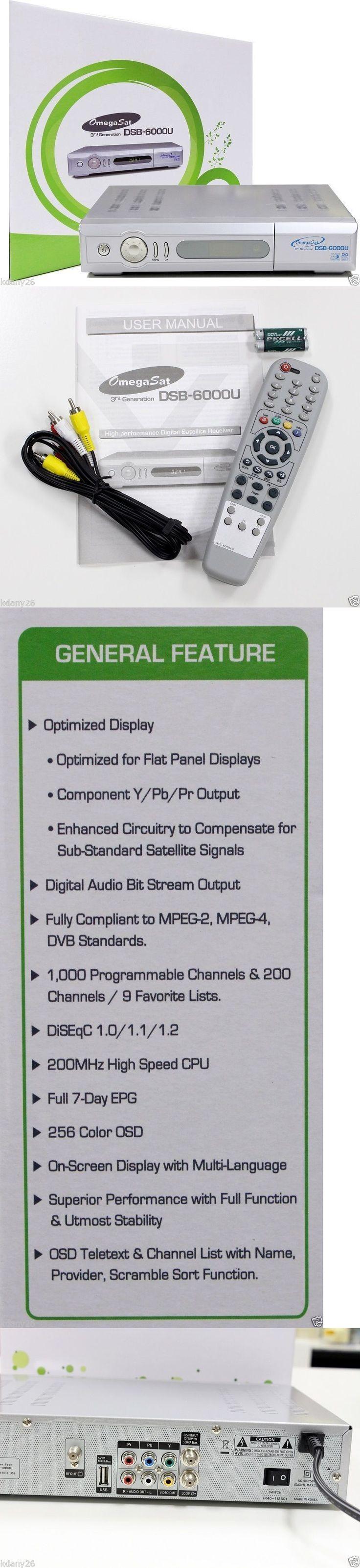 Satellite TV Receivers: Original Omegasat Dsb-6000U Digital Satellite Receiver: C/Ku Band, Free To Air BUY IT NOW ONLY: $78.99