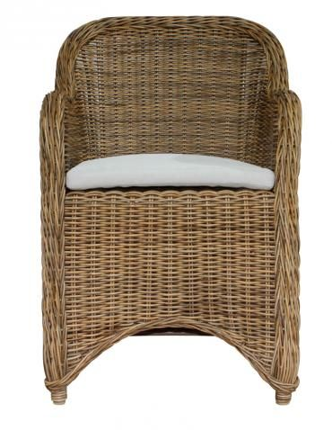 Block & Chisel rattan armchair