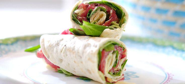 Recept: wraps met carpaccio, parmezaanse kaas en truffelmayonaise