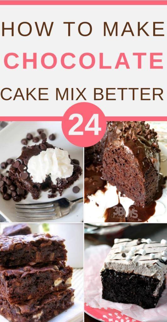 How To Make Chocolate Cake Mix Better Chocolate Cake Mixes Recipe Using Chocolate Cake Mix Doctored Cake Mix Recipes