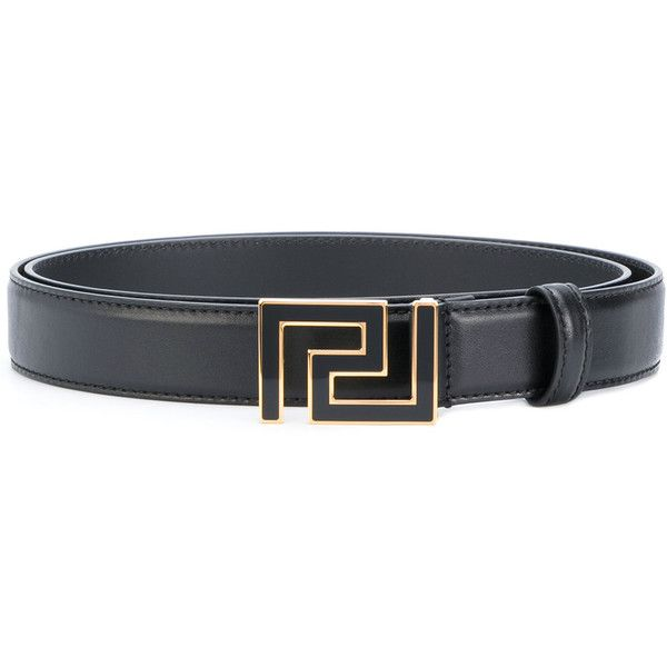 Versace Greek Key buckle belt (385 CAD) ❤ liked on Polyvore featuring men's fashion, men's accessories, men's belts, black, mens leather accessories, versace mens belt, mens real leather belts, mens genuine leather belts and mens leather belts