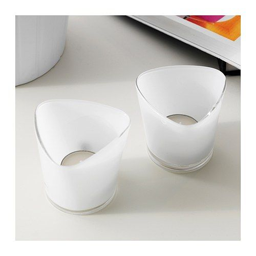 $2.49 RÖNÅS Tealight holder IKEA Mouth blown; each candle holder is shaped by a skilled craftsman.