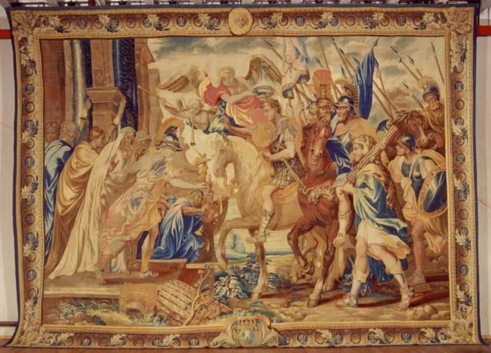 Entr e triomphale de constantin rome tapisserie faisant for Tapisserie entree