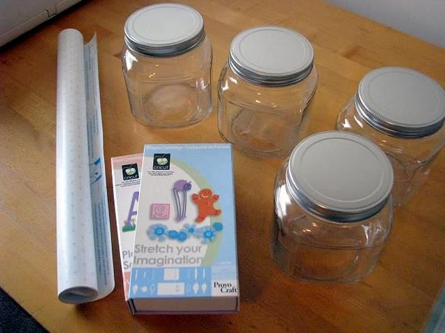 etched acid jars using the cricut