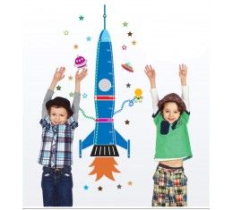 Big Rocket Height Chart wall sticker available at www.kidzdecor.co.za. Free postage throughout South Africa