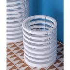 8 in. White Iron Ring Candle Holder, Whites