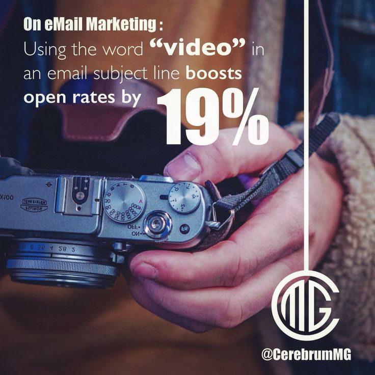 "Starting an Email Marketing Campaign? Try using the word ""VIDEO"" to get your point across. (ps: don't forget to include the video ;) @CerebrumMG 