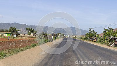 The main transit road in Kenya. Africa.