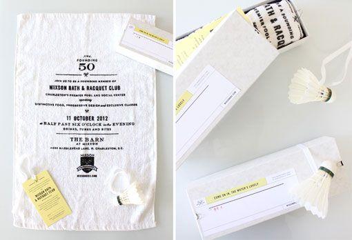 Stitch Design Co.: Mixson Bath and Racquet Club Invitation