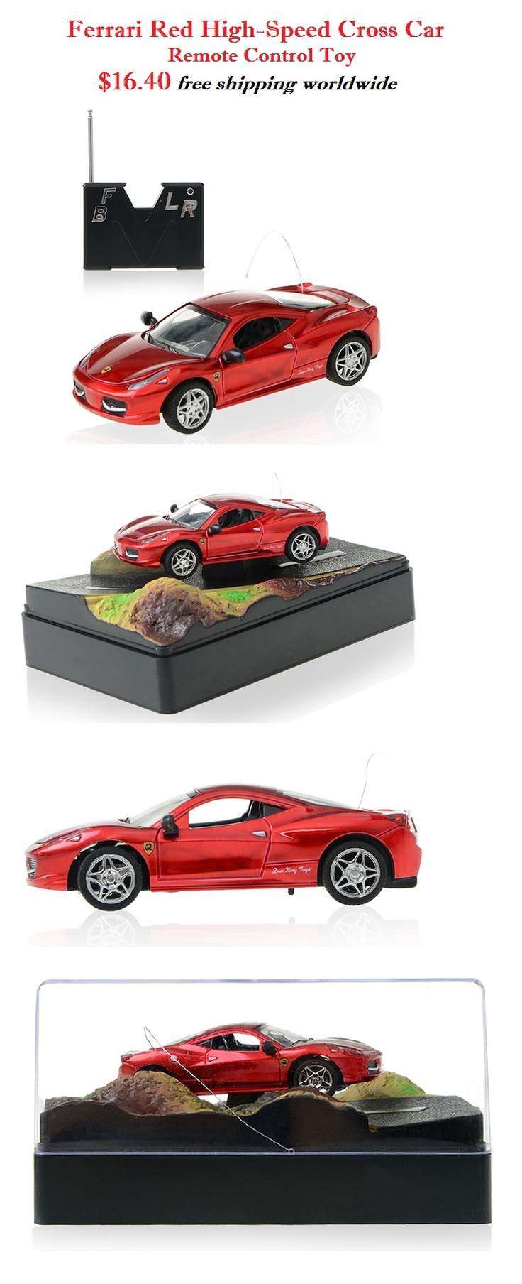 Ferrari Brand Red High-Speed Cross Car - Remote Control #ferrari #brand #speed #cross #car #remote #control $16.40