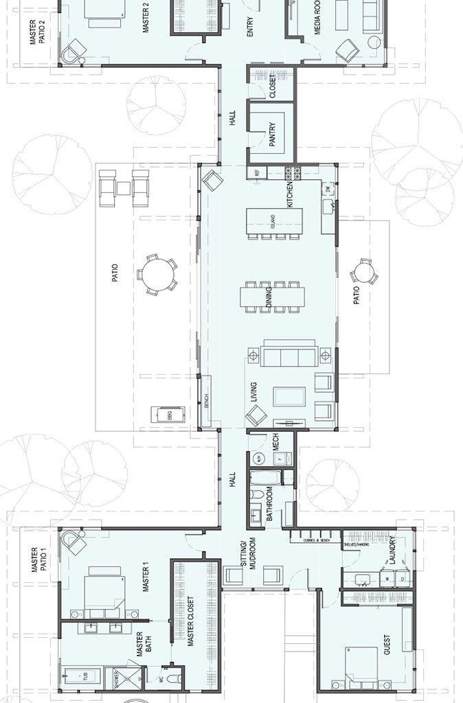 sd191 – Double Master Bedrooms in 2019 | Houseplans | Floor plans ...
