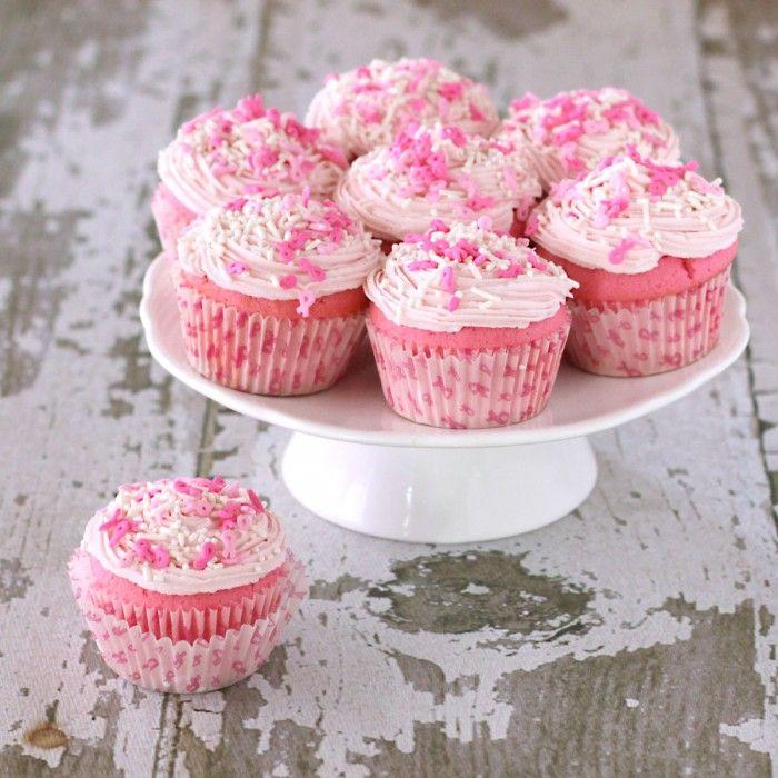 Pink Ribbon Pink Velvet Cupcakes