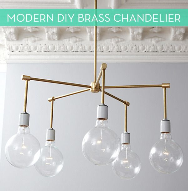 Make It: Modern DIY Brass Chandelier