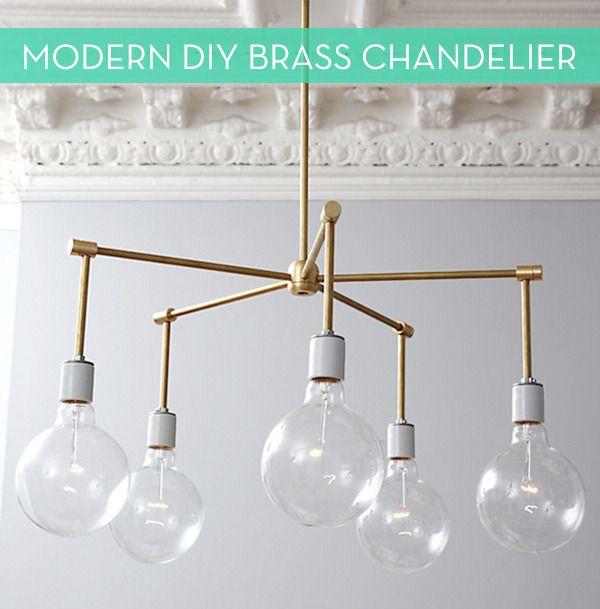 Make It: Modern DIY Brass Chandelier