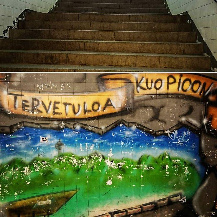 Stairway to heaven. Tänään väärä suunta päivä yhtäällä ja yöksi #Ouluun.