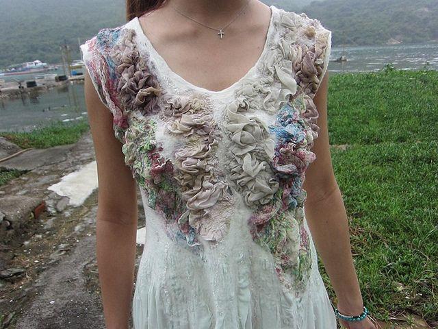 Nuno felt dress by TerrieKwong, via Flickr