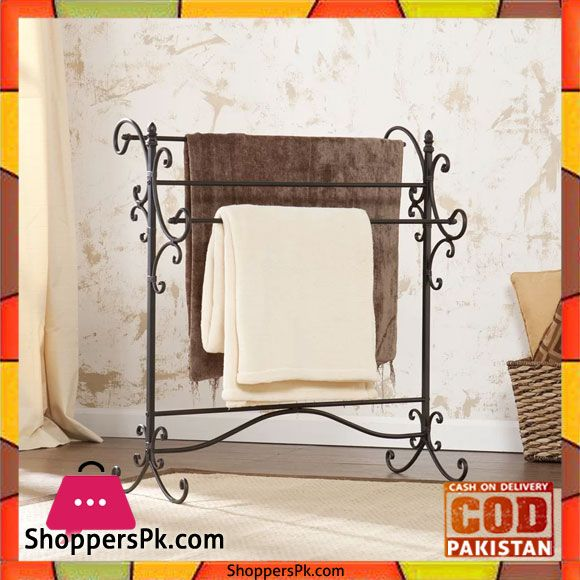 On Sale: Beacon Quilt Rack Powder Coated Worught Iron Metal Price Rs. 3140 https://www.shopperspk.com/product/beacon-quilt-rack-powder-coated-worught-iron-metal/